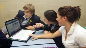 Year 13 English students collaborating in Knowledge Forum